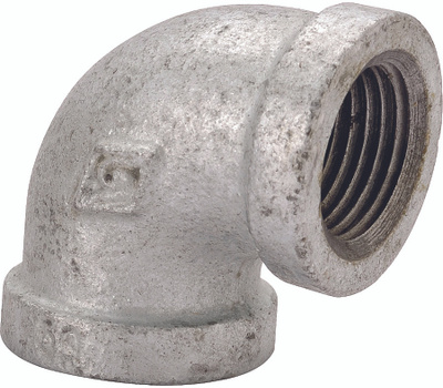 WorldWide Sourcing PPG90R-10X8 3/8 By 1/4 Inch Galvanized 90 Degree Elbow