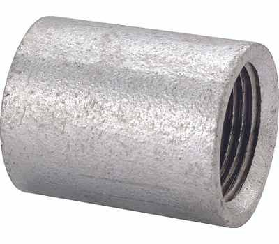 WorldWide Sourcing PPGSC-8 1/4 Inch Galvanized Merchant Coupling