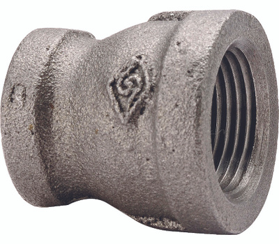 WorldWide Sourcing B240 15X8 1/2 By 1/4 Inch Black Pipe Reducing Coupling