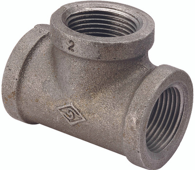 WorldWide Sourcing B130R 25X20X20 1 By 3/4 By 3/4 Inch Black Pipe Reducing Tee