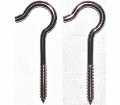 ProSource LR-309S Mintcraft Stainless Steel Ceiling Hooks 4-15/16 Inch #0 Pack Of 2