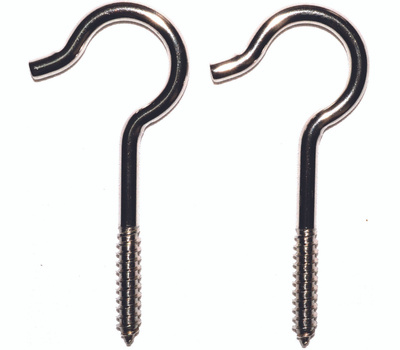 ProSource LR-311S Mintcraft 4-1/8 Inch #3 Stainless Steel Ceiling Hook Pack Of 2