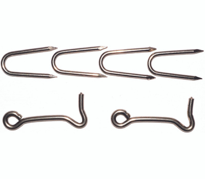 ProSource LR-430S Mintcraft 3 Inch Stainless Steel Staple With Hooks Pack Of 2