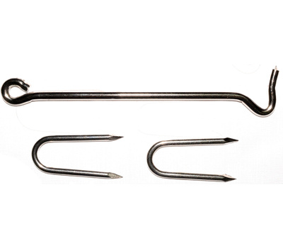ProSource LR-432S Mintcraft 9 Inch Stainless Steel Hook With Staples