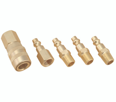 ProSource DZA019 5 Piece Solid Brass Coupler Set