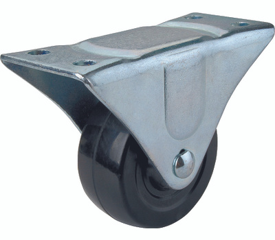 ProSource JC-H04 4 Inch Rubber Wheel Plate Caster