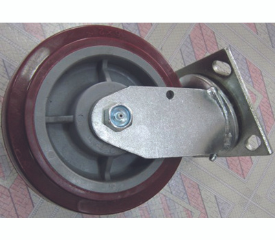 ProSource JC-P06 6 By 2 Inch Polyurethane Plate Caster With Brake