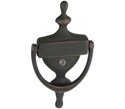 ProSource HR4004VVB-3L Mintcraft Door Knocker With Viewer 7 Inch Solid Brass Venetian Bronze