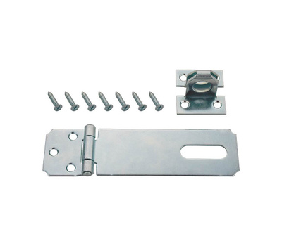 ProSource LR-121-BC3L Mintcraft 3-1/2 Inch Fixed Staple Safety Hasp Zinc Plated