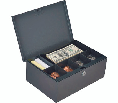ProSource TS814-3L Cash Box With Key 11-1/2 By 7-7/8 By 4-3/8 Inch