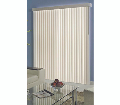 Simple Spaces MBV-78X84-VA3L Blind Vert Vinyl Alb 78X84in