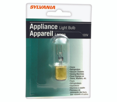 Sylvania 18200 15 Watt Appliance Light Bulbs Clear Incandescent T7