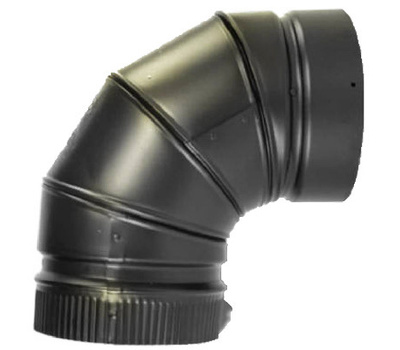 Selkirk DSP8E9-1 Elbow Stovepipe 90Deg 8In Blk