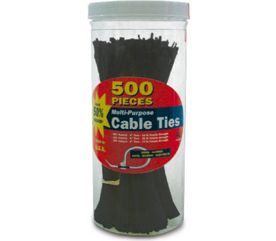 Ecm Industries Llc 71111 500 Pack Cable Tie Assorted