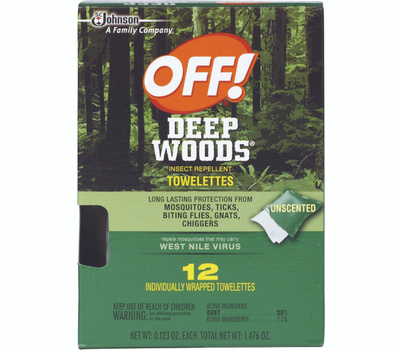 Off 54996 Deep Woods Off Towelettes Off 12Ct