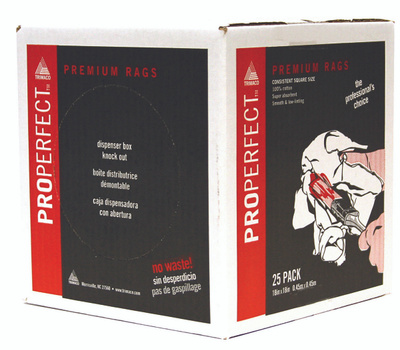Trimaco 80025 Properfect Wipers Pro Perfect Wipers 18 By 18 25 Per Box