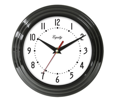 La Crosse 25013 Equity 8 Inch Battery Operated Wall Clock Black