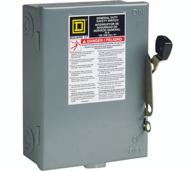Square D D211NCP 30 Amp Fusible Wp Safety Switch
