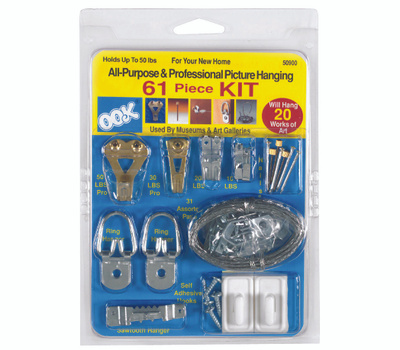 Hillman 50900 Ook Picture Hanging Kit 61 Piece