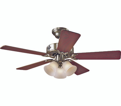 Hunter Fan 51011 Southern Breeze 42 Inch Dual Mount Ceiling Fan Nickel