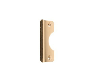 Prime Line U9510 Latch Shield Guard Plate For Outswing Doors 2-5/8 By 6 Inch Brass Plated Steel