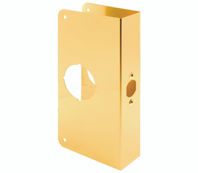 Prime Line U9550 Lock And Door Reinforcer 2-3/4 Backset 1-3/4 Thickness 4-5/16 Deep 9 Inch High Brass Finish