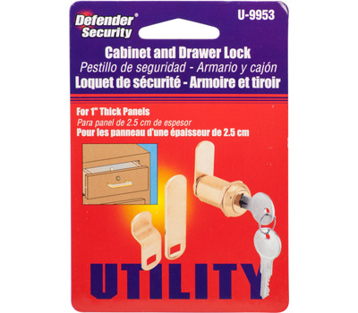 Prime Line U9953 223346 Defender Security Brass Drawer And