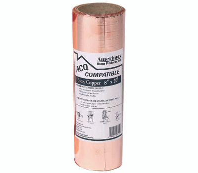 Amerimax 850678 Copper Flashing 8 Inch By 20 Foot