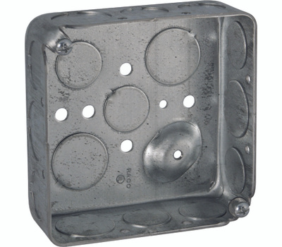 Raco 8192 4 Inch Square Steel Outlet Box