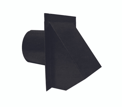 LL Building WVA4BL Master Flow Hood Vent Dryer Round 4in Blk