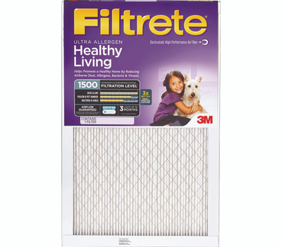 3M 2012DC-6 Filtrete Healthy Living Ultra Allergen Filters 24 Inch By 24 Inch By 1 Inch