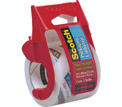 3M 142 Scotch Heavy Duty Clear Mailing Tape With Dispenser 2 Inch By 800 Inch