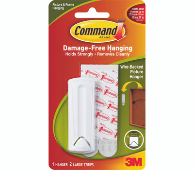 3M 17041-ES Command Wire Backed Picture Hanger With Adhesive