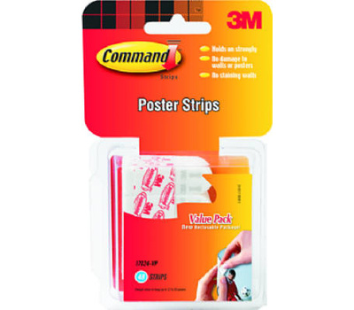 3m 17024 60es command poster strip adhesive 60 pack