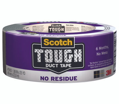 3M P2425 Scotch Tough No Residue Duct Tape 1.88 Inch By 25 Yards