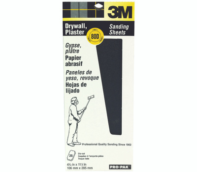 3M 99433NA Drywall Sanding Sheets Diecut 4 3/16 By 11 Inch 80C Grit