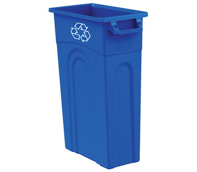 United Plastics TI0033 23 Gallon Slim Recycling Container Blue