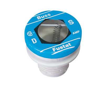 Cooper Bussmann BP/S-6-1/4 Heavy Duty Dual Element Tamper Proof 6-1/4 Amp S Plug Fuse
