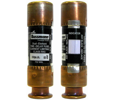 Cooper Bussmann BP/FRN-R-30ID Easy ID Dual Element Time Delay Cartridge Fuses With Indicator 30 Amp 2 Pack