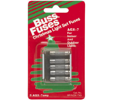 Pack of 5 125V Bussmann AGX-30 AGX Series Fuse Fast Acting Glass Tube 30 Amp 1//4 x 1