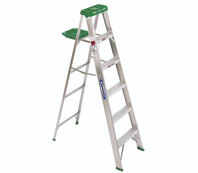 Werner 354 4 Ft Household Aluminum Stepladder