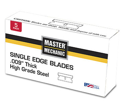 IDL Tool 741355 Master Mechanic Single Edge Razor Blade High Carbon Surgical Steel 009 Gauge 25 Pack