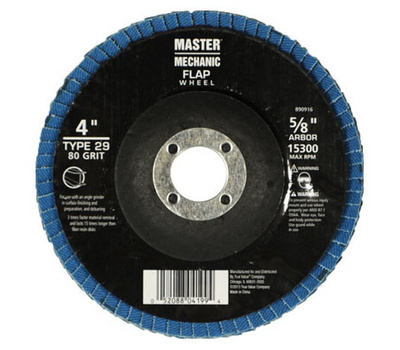 Master Mechanic 890916 4 By 5 8 Inch 80 Grit Flap Disc