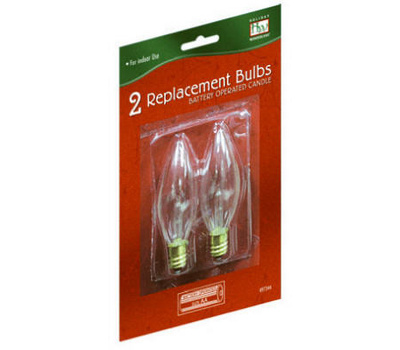 Noma Inliten T 16 88 Holiday Wonderland 2 Pack Battery Operated Candelabra Replacement Bulb