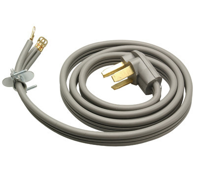 HWG Kintron 09124ME Master Electrician 4 Foot 10/3 Gray Dryer Cord