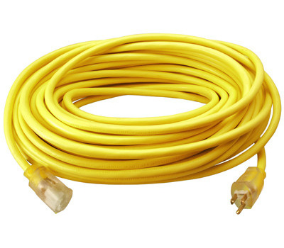 PHW Genting 02589ME Master Electrician 100 Foot 12/3Yellow Extension Cord