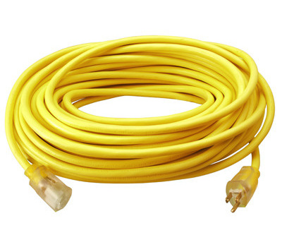 PHW Genting 02587ME Master Electrician 25 Foot 12/3 Yellow Extension Cord