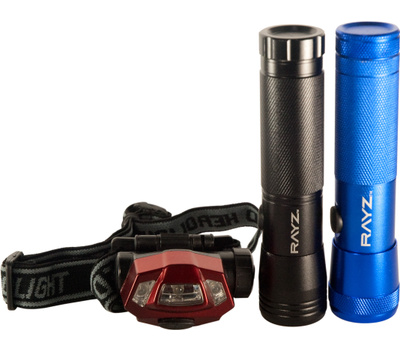 Hangzhou GSTV115-3 Rayz Three Piece Led Flashlight Plus Headlight Combo