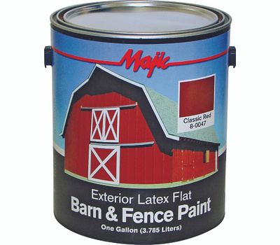 Yenkin Majestic 8-0047-1 Majic Latex Barn And Fence Cl Red Gallon