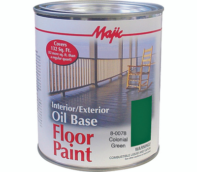 Yenkin Majestic 8-0078-2 Majic Paint Interior Exterior Oil Green Floor Quart